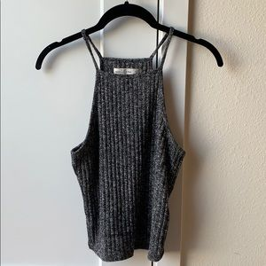 Abercrombie & Fitch Gray Cropped Tank Top
